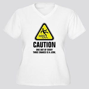Caution one out of every three s Plus Size T-Shirt