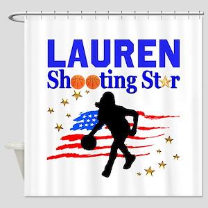 GO BASKETBALL Shower Curtain