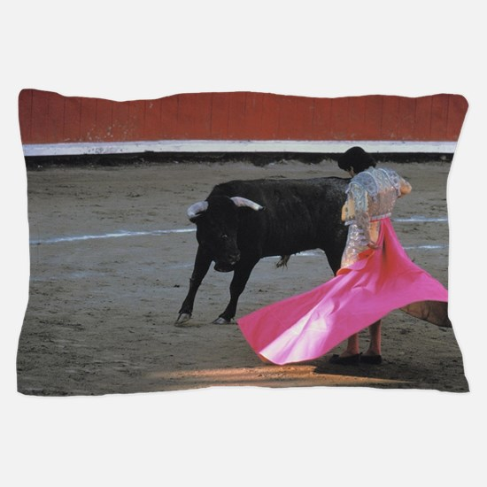 Cute Bull fighting Pillow Case