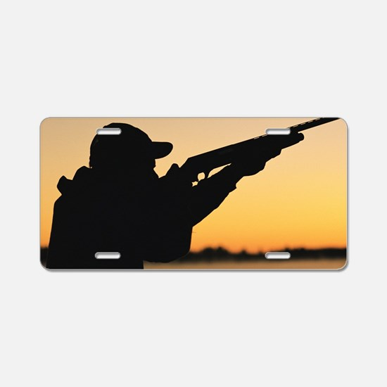 Cool Rifle Aluminum License Plate