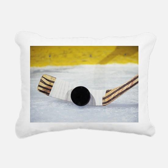 Cute Hockey team Rectangular Canvas Pillow