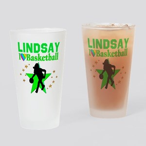 GO BASKETBALL Drinking Glass