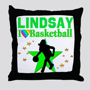 GO BASKETBALL Throw Pillow