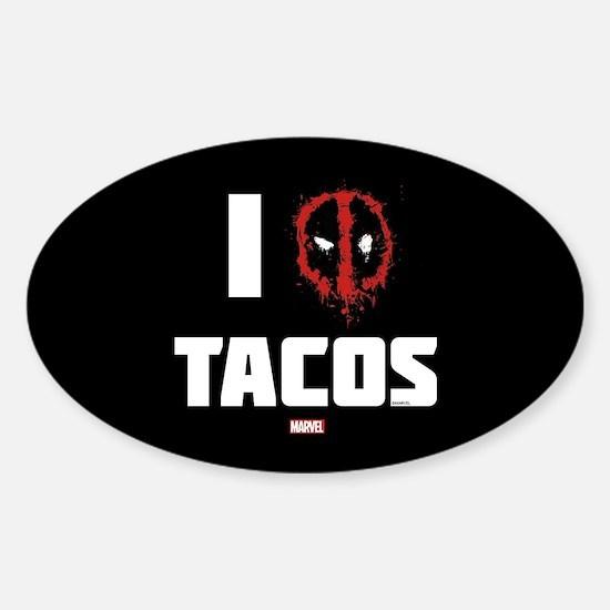 Deadpool Tacos Sticker (Oval)
