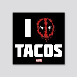 "Deadpool Tacos Square Sticker 3"" x 3"""