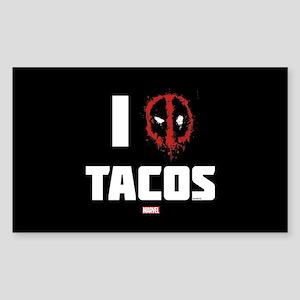 Deadpool Tacos Sticker (Rectangle)