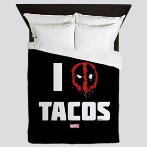 Deadpool Tacos Queen Duvet