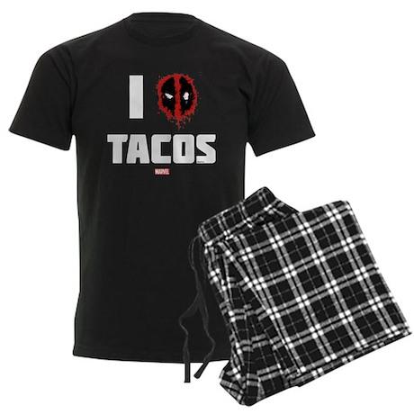 Deadpool Tacos Men's Dark Pajamas