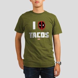 Deadpool Tacos Organic Men's T-Shirt (dark)