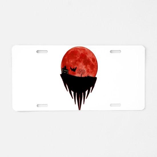 Horror Moon Aluminum License Plate