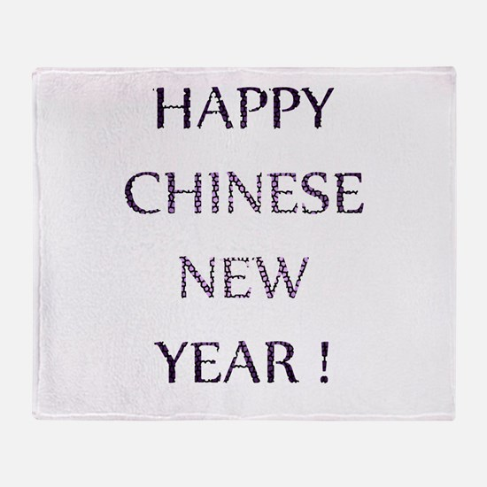 Happy Chinese New Year Throw Blanket