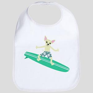 Chihuahua Surfer Baby Bib