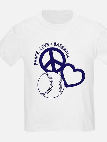 PEACE-LOVE-BASEBALL T-Shirt