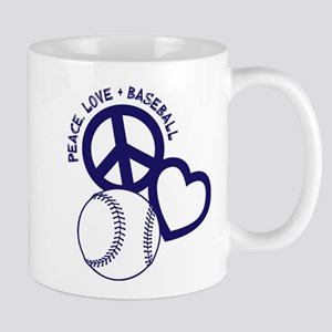 PEACE-LOVE-BASEBALL Mug