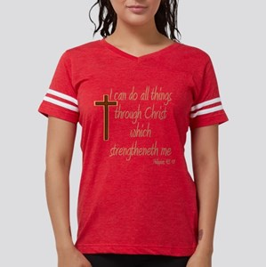 Philippians 4 13 Brown Cross T-Shirt