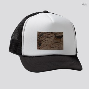 layers of chipped earth Kids Trucker hat