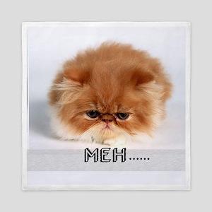 meh mad cat Queen Duvet