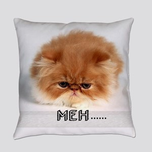 meh mad cat Everyday Pillow