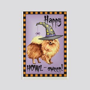Halloween Pomeranian Rectangle Magnet