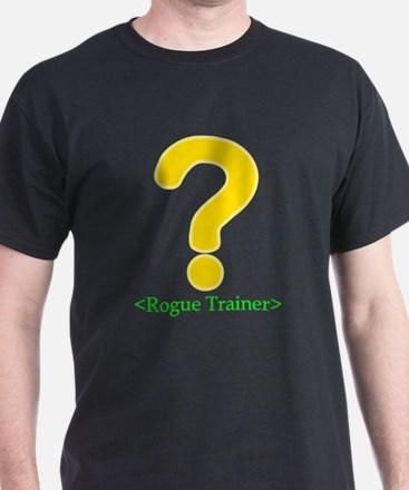 Rogue Trainer Black T-Shirt for gamers.