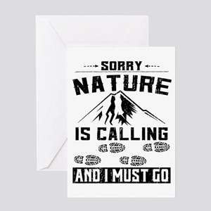 Sorry Nature is Calling Greeting Card
