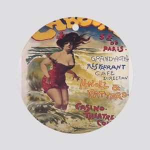 Vintage poster - Cabourg Round Ornament