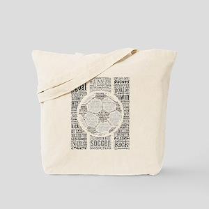 Soccer Word Art Tote Bag