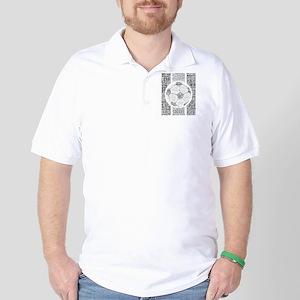 Soccer Word Art Golf Shirt