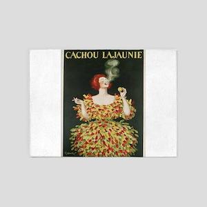 Vintage poster - Cachou Lajaunie 5'x7'Area Rug