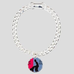 his side sex Charm Bracelet, One Charm