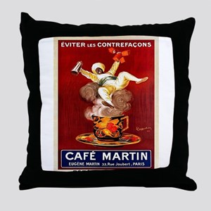 Vintage poster - Café Martin Throw Pillow