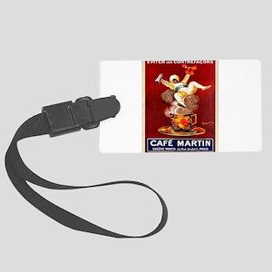Vintage poster - Café Martin Large Luggage Tag