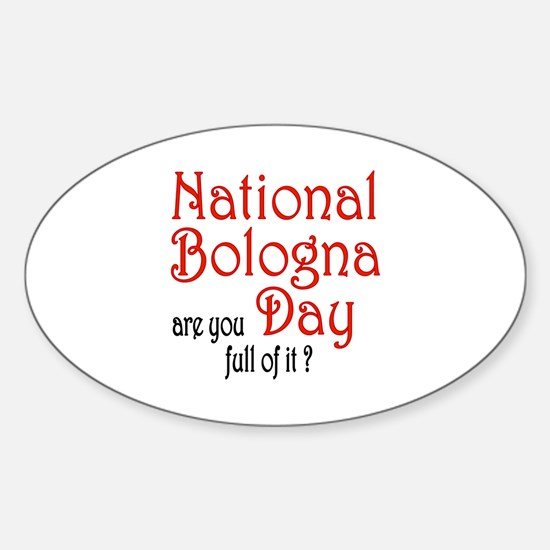 National Bologna Day Oval Decal