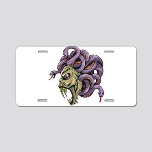 Monster Medusa with Snakes Aluminum License Plate