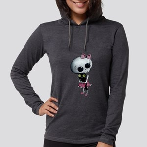 Little Miss Death with black cat Long Sleeve T-Shi