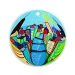 Chicago River View Ornament (Round)