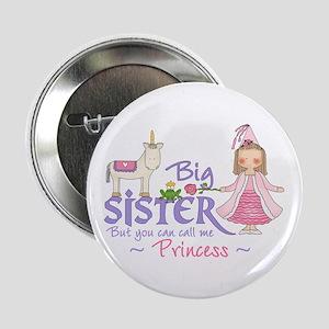 Unicorn Princess Big Sister Button