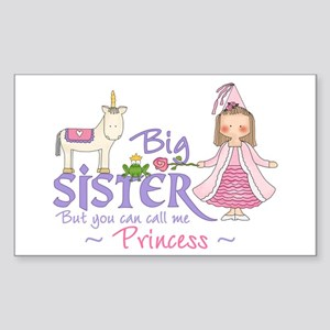 Unicorn Princess Big Sister Rectangle Sticker