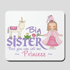 Unicorn Princess Big Sister Mousepad