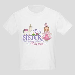 Unicorn Princess Big Sister Kids Light T-Shirt