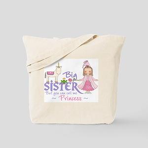 Unicorn Princess Big Sister Tote Bag