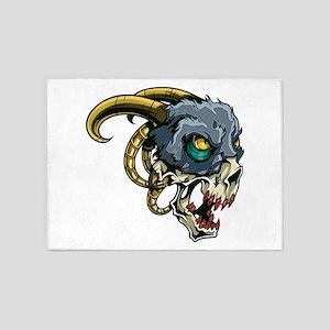 Monster Devil Ram 5'x7'Area Rug