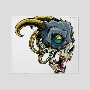 Monster Devil Ram Throw Blanket