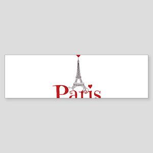 I love Paris Bumper Sticker