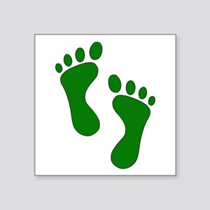 Green Feet Sticker