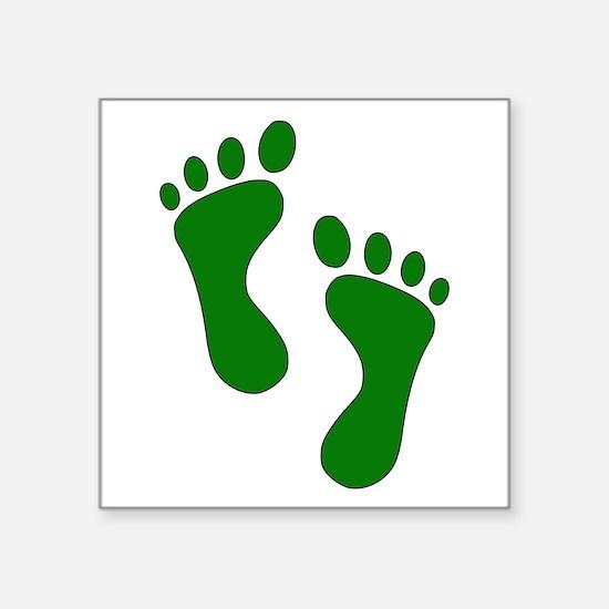 Green Feet Sticker