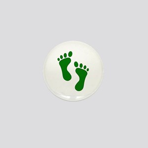 Green Feet Mini Button