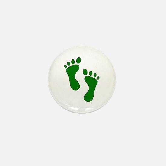 Green Feet Mini Button
