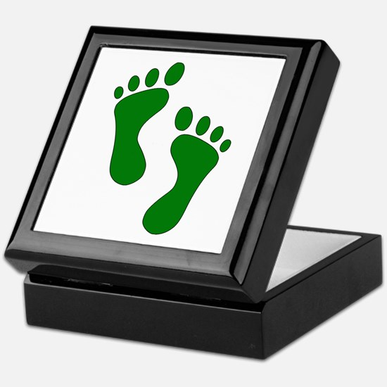 Green Feet Keepsake Box