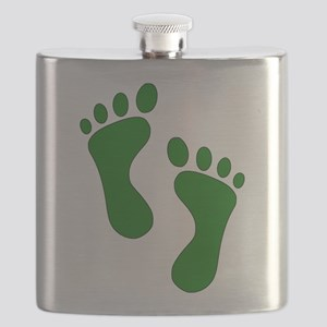 Green Feet Flask